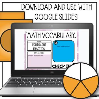 Math Vocabulary Engagement Charts Unit 3