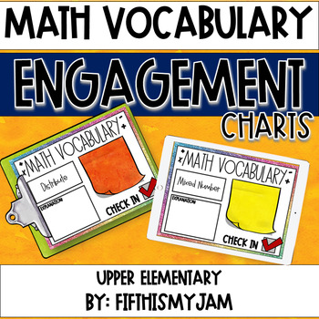 Math Vocabulary Engagement Charts Unit 4