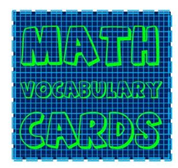 Math Vocabulary Flashcard Label