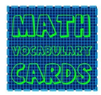 Math Vocabulary Flashcard Label