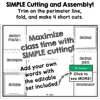 Math Vocabulary Interactive Notebook Foldables BUNDLE (FULL YEAR) Grade 4