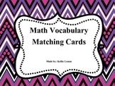 Math Vocabulary Matching Cards