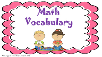 Math Vocabulary Flash Cards