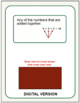 Math Vocabulary Words Practice and Review Flash Cards for