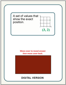 math vocabulary activity flash cards 6th grade by rick 39 s resources. Black Bedroom Furniture Sets. Home Design Ideas