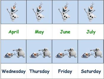 Math Vocabulary Flashcards - Frozen