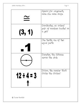 Math Vocabulary Flashcards Set 3