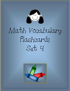 Math Vocabulary Flashcards Set 4