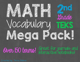 Math Vocabulary Flip Flaps for Student Journals and Intera