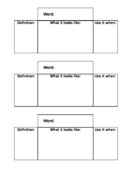 Math Vocabulary Foldable