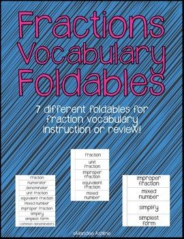 Math Vocabulary Foldables