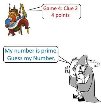 """Math Vocabulary Game """"Guess My Number"""""""