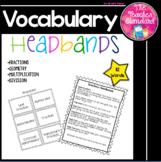 Math Vocabulary Game Headbands