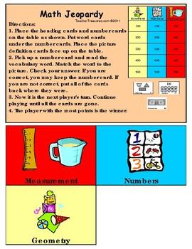 Math Vocabulary Games 1-2