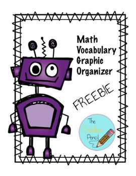 Math Vocabulary Graphic Organizer