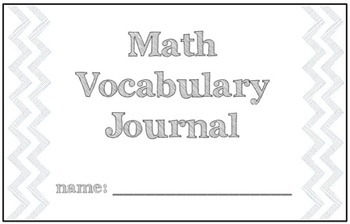 Math Vocabulary Graphic Organizer Journal