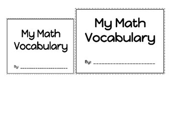 Math Vocabulary Graphic Organzier