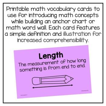 First Grade Math Vocabulary Bundle