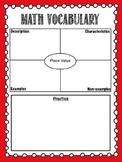 Math Vocabulary Journal - 3rd Grade - EveryDay Math Aligned