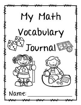 Math Vocabulary Journal FREEBIE