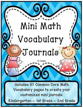 Math Vocabulary Journals {Common Core Math}