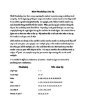 Math Vocabulary Line Up