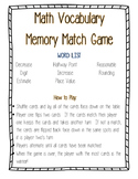 Math Vocabulary Match Game--Number & Operations in Base Ten/Rounding