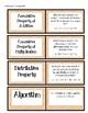 Math Vocabulary Matching Set