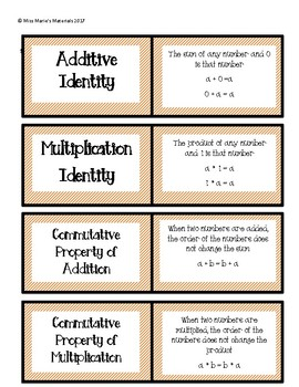 Math Vocabulary Flashcards