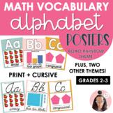 Math Vocabulary | Math Vocabulary Alphabet Posters | BOHO