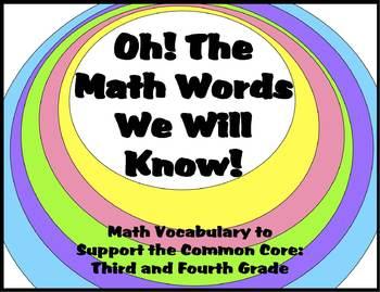 Math Vocabulary Mega Pack
