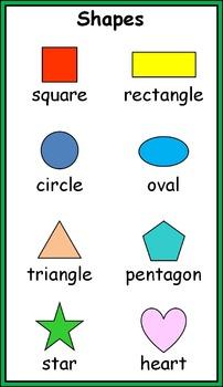 Math Vocabulary Mini Posters