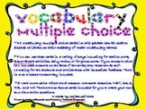 Math Vocabulary Multiple Choice Cards