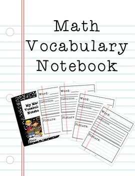Math Vocabulary Notebook