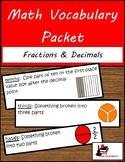 Math Vocabulary Unit - Fractions & Decimals