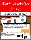 Math Vocabulary Unit - Geometry: Shapes
