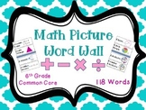 Math Word Wall Vocabulary Picture Cards