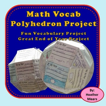 Math Vocabulary Polyhedron Project