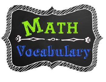 Math Vocabulary Poster Chalkboard Theme