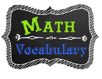 Math Vocabulary Poster Chalkboard Theme