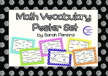 Math Vocabulary Poster Set