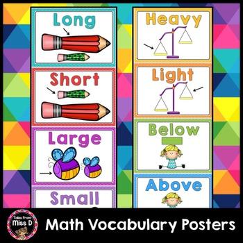 Math Vocabulary Posters