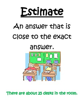 Math Vocabulary Posters 4th Grade