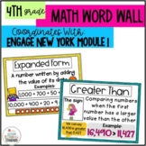 Math Vocabulary Posters 4th Grade- Engage New York Module 1
