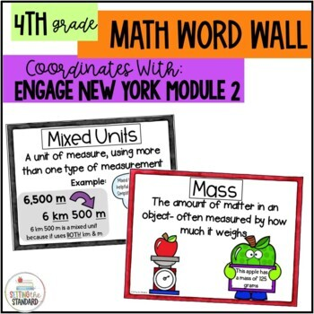 Math Vocabulary Posters 4th Grade- Engage New York Module 2