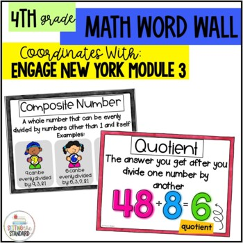 Math Vocabulary Posters 4th Grade- Engage New York Module 3