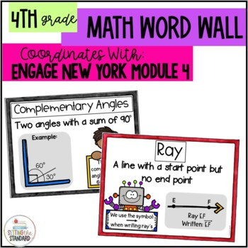 Math Vocabulary Posters 4th Grade- Engage New York Module 4