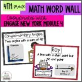 Math Word Wall 4th Grade- Engage NY Module 4
