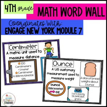 Math Vocabulary Posters 4th Grade- Engage New York Module 7
