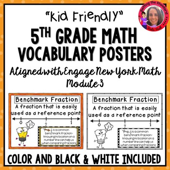 Math Vocabulary Posters 5th Grade Engage New York Module 3